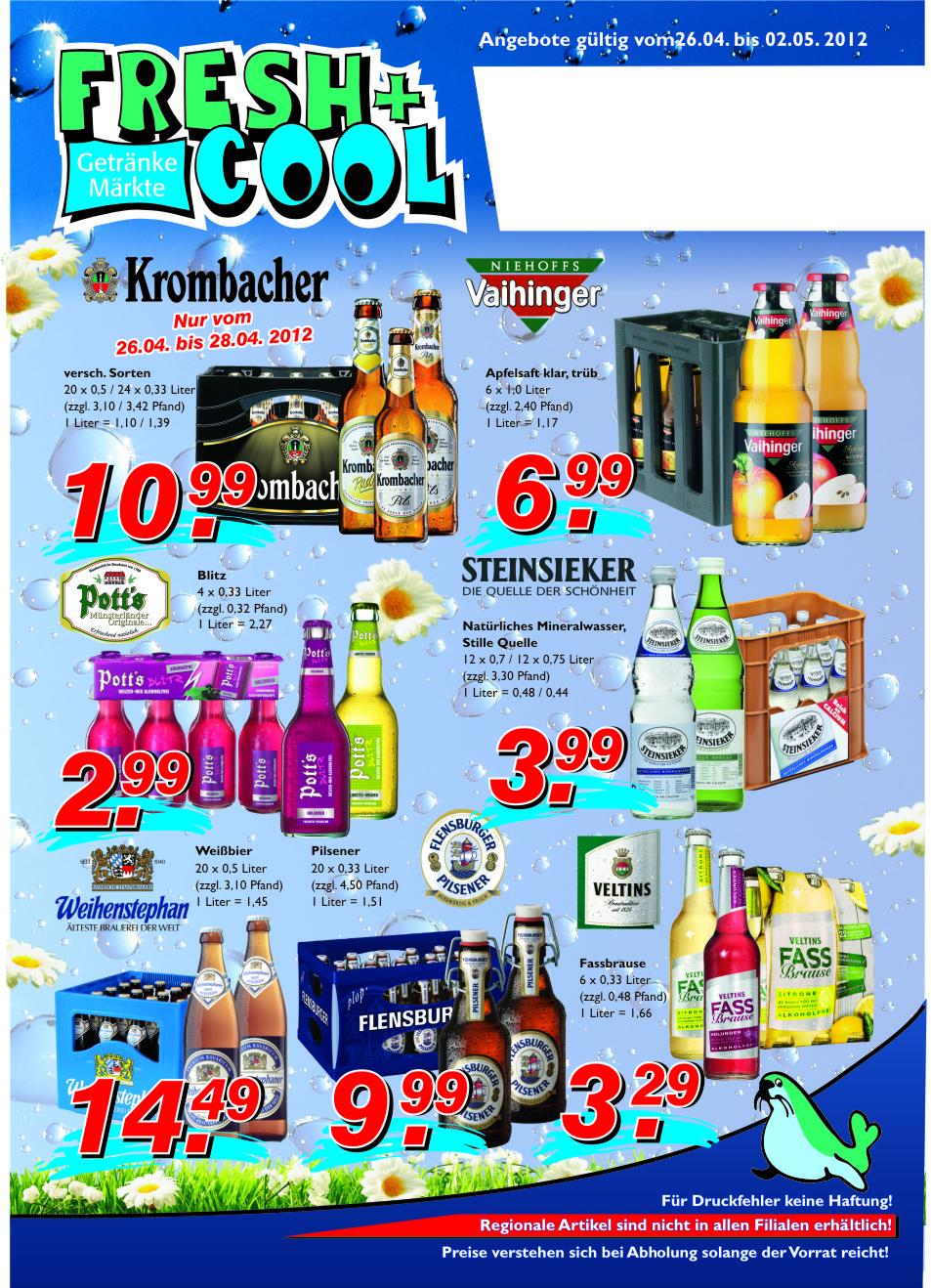 Angebote vom 26.04.-02.05.2012 Seite 1 | Getränke Rücker