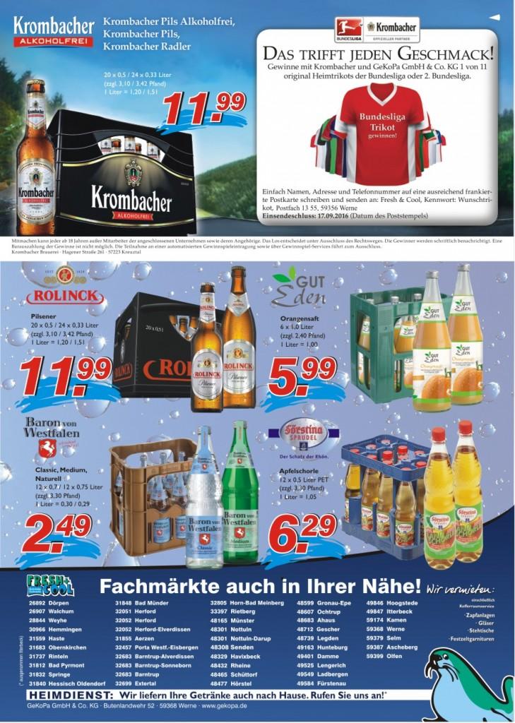Angebote vom 01.-07.09.2016 Seite 2 | Getränke Rücker