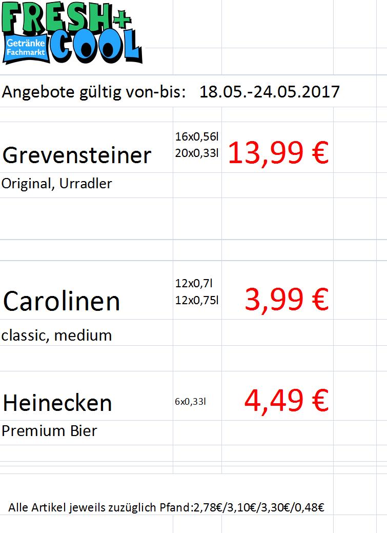 Angebote vom 18.-24.05.2017   Getränke Rücker